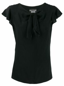 Boutique Moschino bow-detail blouse - Black