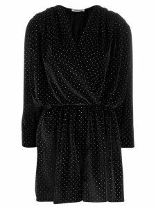 Balenciaga glitter detail wrap mini dress - Black