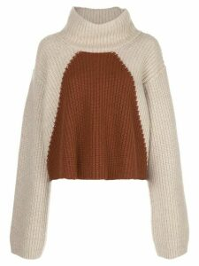 Khaite Marianna colour-block wool jumper - NEUTRALS