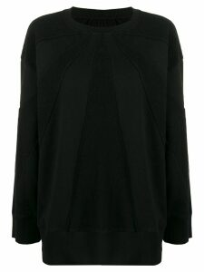 Mm6 Maison Margiela panelled boxy sweatshirt - Black