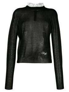 Philosophy Di Lorenzo Serafini broderie anglaise neck jumper - Black