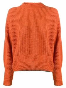 Lala Berlin crew-neck long sleeve jumper - ORANGE