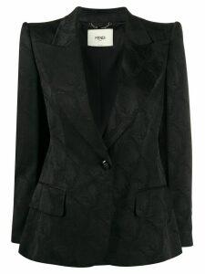 Fendi structured shoulder jacket - Black