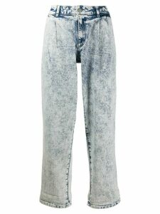 Michael Michael Kors mid rise acid washed jeans - Blue