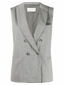 Fabiana Filippi sleeveless jersey blazer - Grey