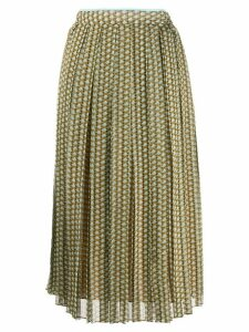 Fendi pleated patterned skirt - Brown