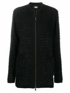 Karl Lagerfeld tweed boucle cardigan - Black
