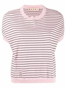 Marni striped knitted top - PINK