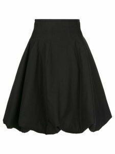 Khaite Tanya wrinkled A-line skirt - Black