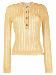 Marco De Vincenzo knitted top - Yellow