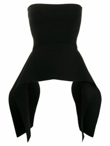 Victoria Victoria Beckham structured knitted top - Black