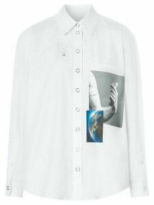 Burberry montage print shirt - White