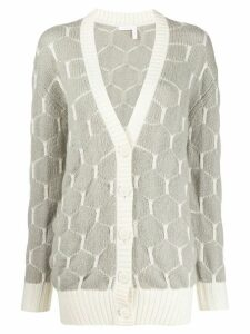 See by Chloé patterned knit cardigan - Grey