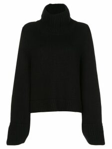 Khaite Marion relaxed-fit wool jumper - Black