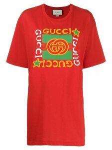 Gucci oversized logo print T-shirt - Red