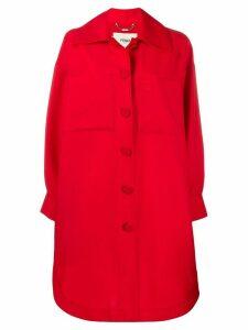 Fendi oversized shirt jacket - Red