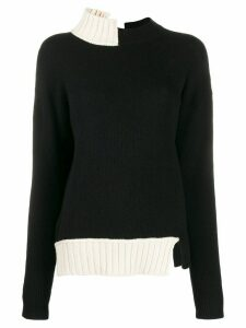 Marni two-toned knitted jumper - Black