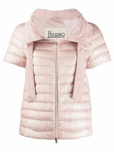 Herno short sleeve puffer jacket - PINK