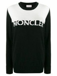 Moncler logo intarsia jumper - Black