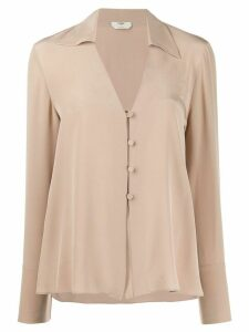 Fendi fluid v-neck shirt - NEUTRALS