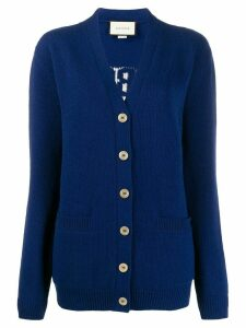 Gucci My Body My Choice V-neck cardigan - Blue