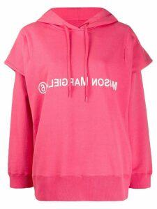 Mm6 Maison Margiela double sleeve logo hoodie - PINK