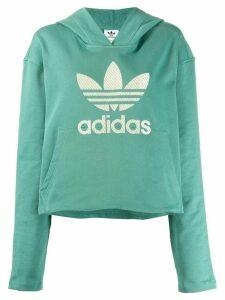 adidas logo hoodie - Green