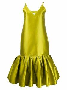 Marques'Almeida satin drop waist dress - Green