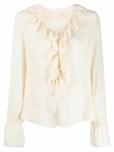 See By Chloé ruffled v-neck blouse - White