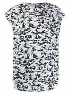 Mm6 Maison Margiela asymmetric camo T-shirt - Grey