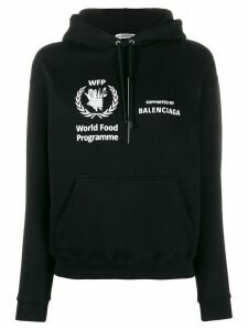 Balenciaga cropped World Food Programme hoodie - Black