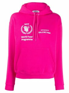 Balenciaga World Food Programme shrunk hoodie - PINK