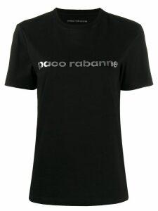 Paco Rabanne metallic logo print T-shirt - Black
