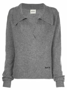 Khaite Marisa open-neck wool jumper - Grey