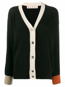 Marni colour-block cardigan - Black