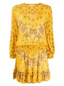 Poupette St Barth floral-print mini dress - Yellow