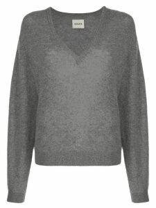 Khaite Sam relaxed-fit wool jumper - Grey