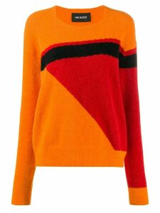 Neil Barrett geometric pattern jumper - ORANGE