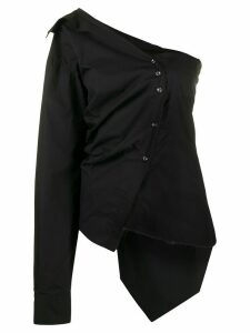 Marques'Almeida asymmetric poplin shirt - Black