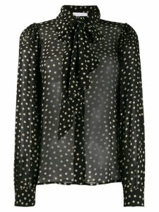 GANNI polka-dot shirt - Black