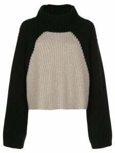 Khaite Marianna ribbed colour-block jumper - Black
