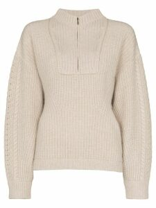 Le Kasha half zip knit jumper - NEUTRALS