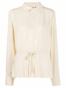 Marni drawstring waist tunic blouse - NEUTRALS
