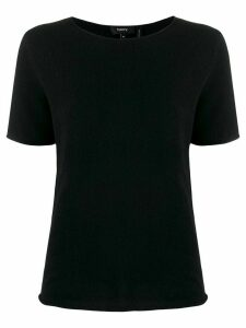 Theory short-sleeved cashmere top - Black