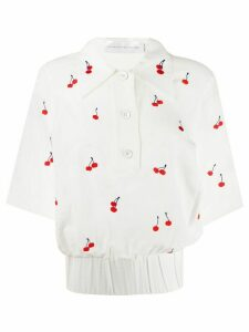 Victoria Victoria Beckham fitted cherry blouse - White