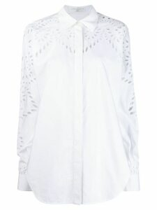 Victoria Beckham broderie anglaise shirt - White