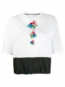 No Ka' Oi embroidered floral T-shirt - White