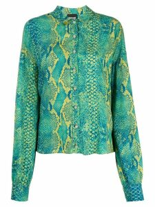 Just Cavalli snakeskin-print shirt - Green