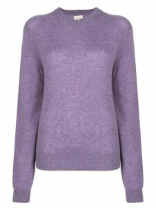 Khaite Viola relaxed-fit wool jumper - PURPLE