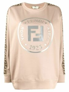 Fendi logo sweatshirt - NEUTRALS